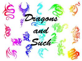Dragons and Such by corazonofmine