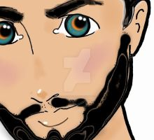 Detail of Handsome Youth bearded by Wasted-Effort