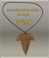 STOCK PNG leaf necklace by MaureenOlder