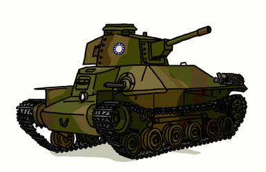 Type 97 Chi-Ha by TimSlorsky