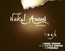 Front Of my Web Page by nakulanand
