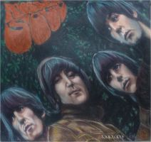 Rubber Soul Drawing by Tokiiolicious