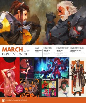 Patreon March 2018 Content Preview by MonoriRogue