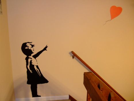 Banksy's Girl with a Balloon by C-l-e-m