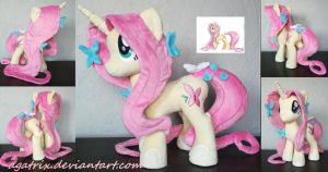 Unicorn Fluttershy plush by agatrix