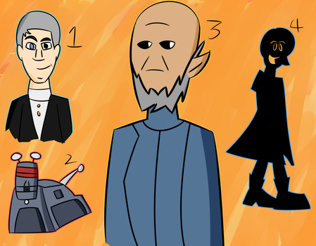 Some Doctor Who doodles by Percyfan94