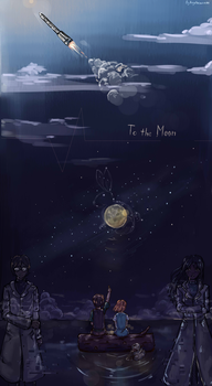 To the moon by Angelmewkaro