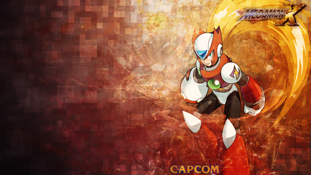 Megaman-wallpaper---Zero-(Logos) by umi-no-mizu