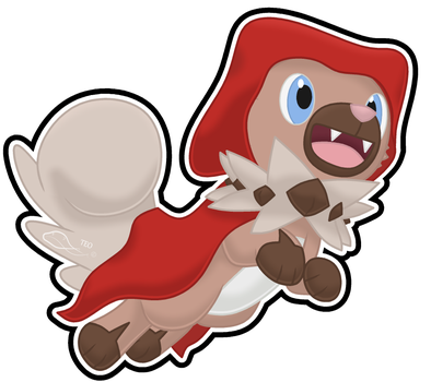 Red Riding Rockruff by The-Emerald-Otter