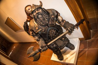 Ceramic Dwarf 9 and the girl 2 :) by Mingrune