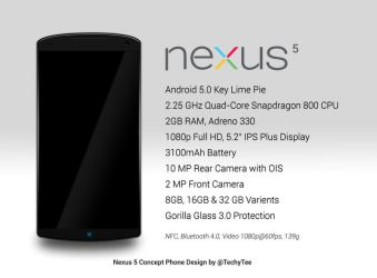 Nexus 5 Concept Phone Design and Expected Feature by teerox