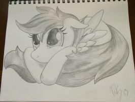 Scootaloo - Im not a chicken.. - sketch by MachStyle