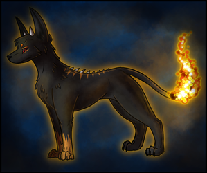 Derekk the HellHound by Petuniabubbles