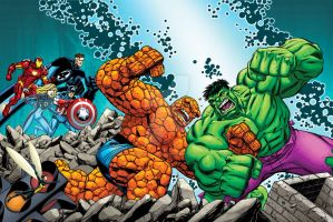 Greatest Battles: The Thing Vs. The Hulk by bennyfuentes