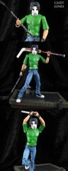 IDW comic style Casey Jones Figure by Jin-Saotome