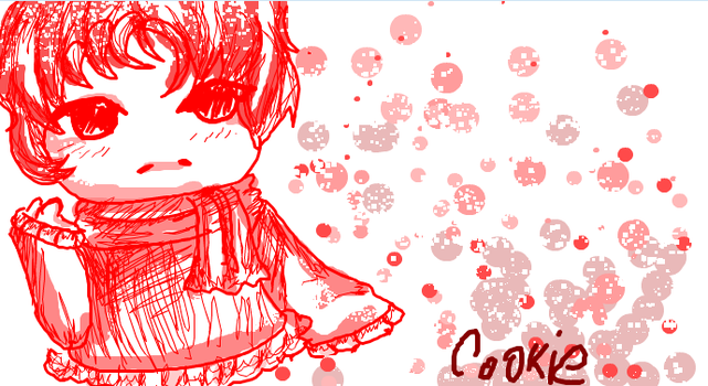 Cutey in red ISCRIBBLE by JamGirl0808
