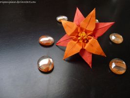 Origami Iris Flower by OrigamiPieces