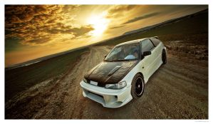 Honda CRX On Sunset 03 by miki3d