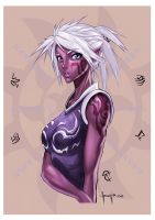 pretty dark elf by Felsus