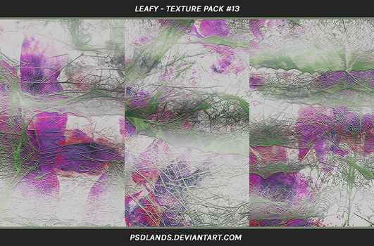 TEXTURE PACK #13 - leafy by psdlands