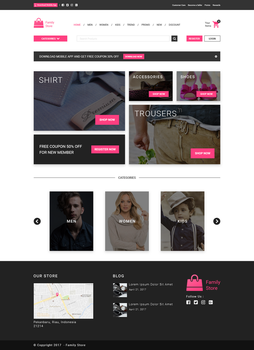 Online Clothing Store Web Design by andikamelodiest