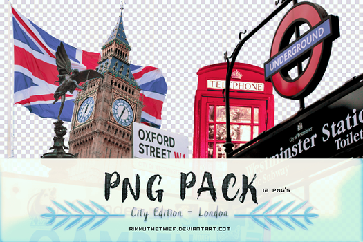 PNGPACK - London by RikkutheThief