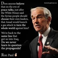 Ron Paul is right about Syria by Novuso