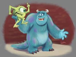 Mike and Sully  by DevinQuigleyArt