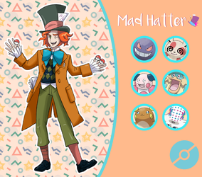 Disney Pokemon trainer : Mad Hatter by Pavlover