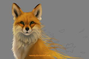 Autumn Fox_work in progress by Vanory