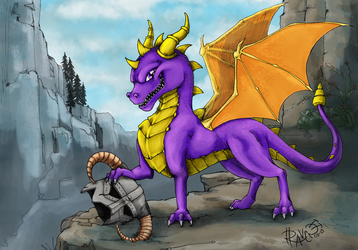 Spyro vs Skyrim - GameInformer Mag - 1st Place!! by cactuarZrule