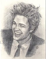Rob Pattinson Laughing by LinaZol