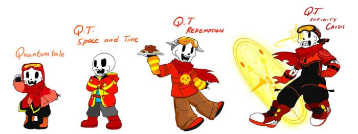 Quantumtale: TimeKid Papyrus Outfit Timeline by perfectshadow06