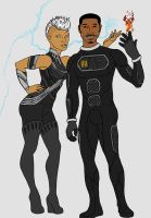 Storm and The Human Torch by tapwater86