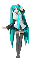 DT Hatsune Miku Original Normal and Specular maps by Sushi-Kittie