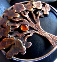 Amber Sun Tree by MoonLitCreations