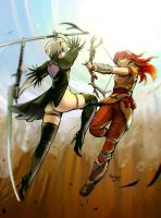 2B vs Aloy by Trebuxet