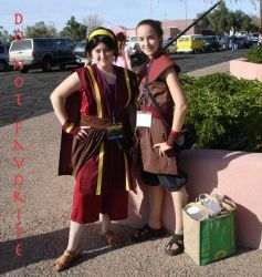 Fire Nation Toph and Sokka by Avatar-Cosplay-Club