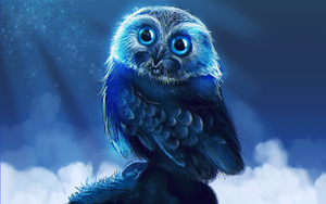 Owl digital painting by KEATONdesigns