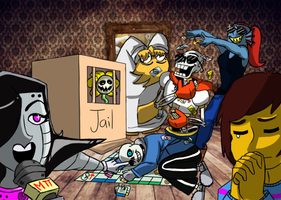 Undertale Draw the Squad Meme Monopoly by KarmaBanshee