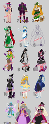 [0PEN] 31 Witches of Halloween adopts [01/31] by azume-adopts