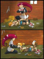 FPIV .:BONUS:. Jessie and Misty by Kurara-Shikaze