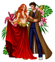 Donna and the Doctor - Commission by AnnettaSassi