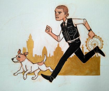 PC Peter Grant and Toby the ghost hunting dog by sn0otchie