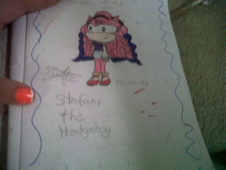 Stefany The hedgehog by britzalin