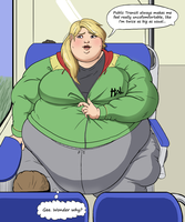 OC: Garmine on the train by Aka-FA