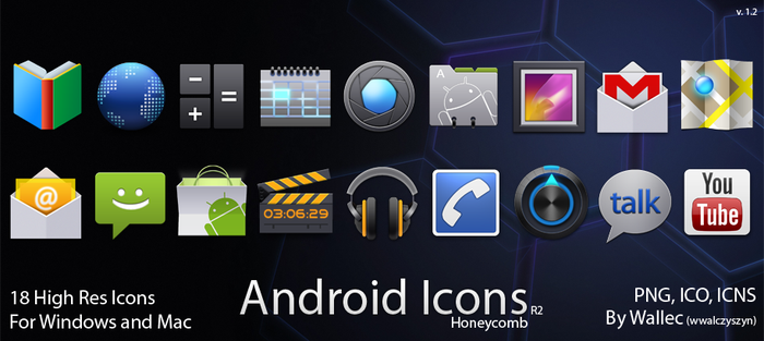 Android Icons R2 - Honeycomb by wwalczyszyn