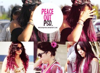 peace out psd by delicatepetals