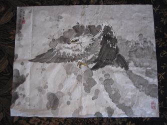 chinese painting eagle by CassPoon