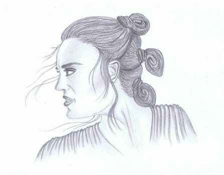 'Star Wars - The Force Awakens' - Rey by LauLau75